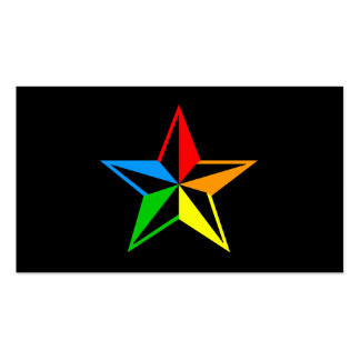 nautical rainbow star Double-Sided standard business cards (Pack of 100)