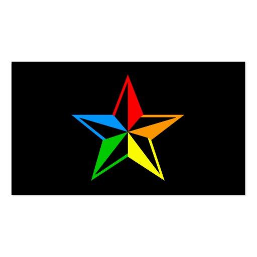 nautical rainbow star business card