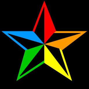 Rainbow nautical star gifts on zazzle nautical rainbow star business card reheart Choice Image