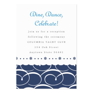 Nautical Reception or Information Card Business Card Templates