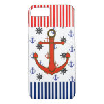 Nautical Red and Blue Anchors Cell Phone Case