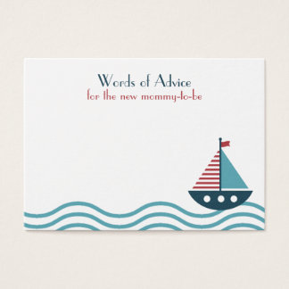 Nautical red and blue boat BABY SHOWER BIRTHDAY Business Card