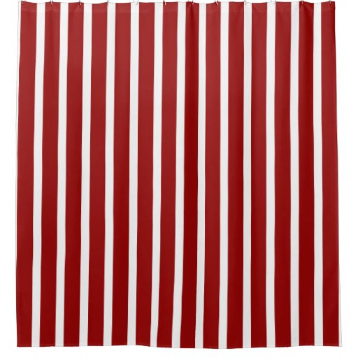 Nautical Red And White Stripes Shower Curtain Zazzle