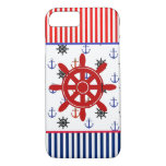 Nautical Red & Blue Anchors Wheelsl Phone Case