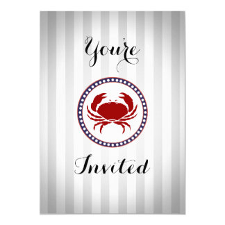 Nautical Red Crab themed all occasion Card