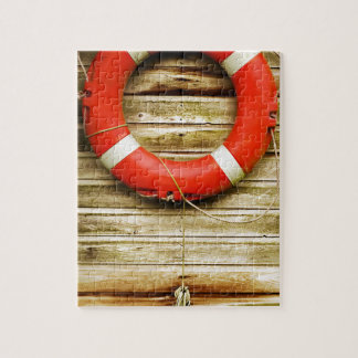 Nautical Red Life Ring Puzzles