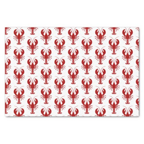Nautical Red Lobster Marine Theme Tissue Paper