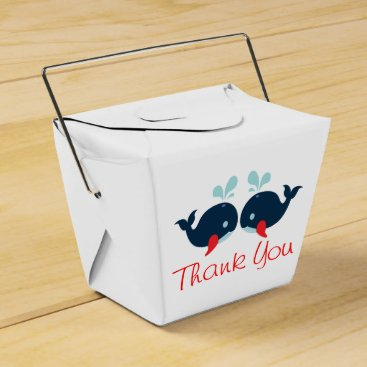 Beach Themed Nautical Red Thank You Navy Blue Whales Wedding Pa Favor Box