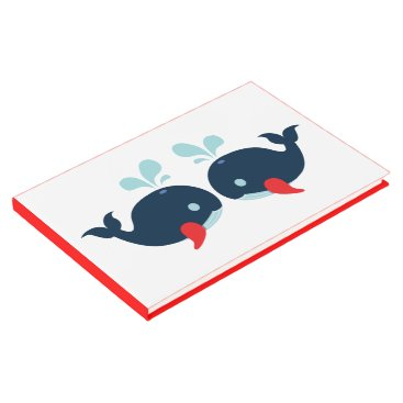 Beach Themed Nautical Red Wedding Navy Blue Whales Beach Party Guest Book