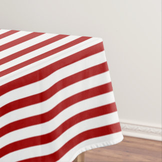 Nautical Red White Stripes And Blue Anchor Tablecloth