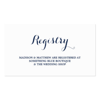 Nautical | Registry Card Double-Sided Standard Business Cards (Pack Of 100)