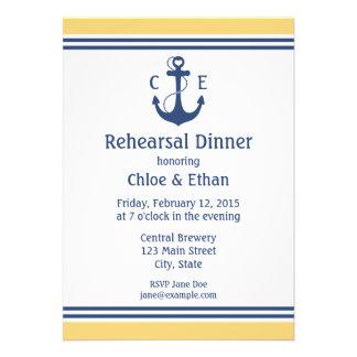 Nautical Rehearsal Dinner Announcements