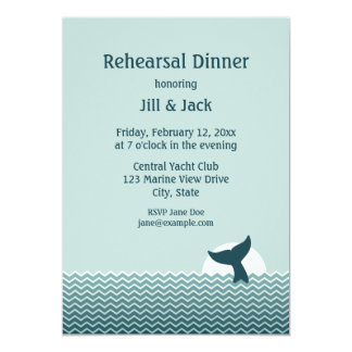 Nautical Rehearsal Dinner Card