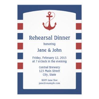 Nautical Rehearsal Dinner Custom Invitations