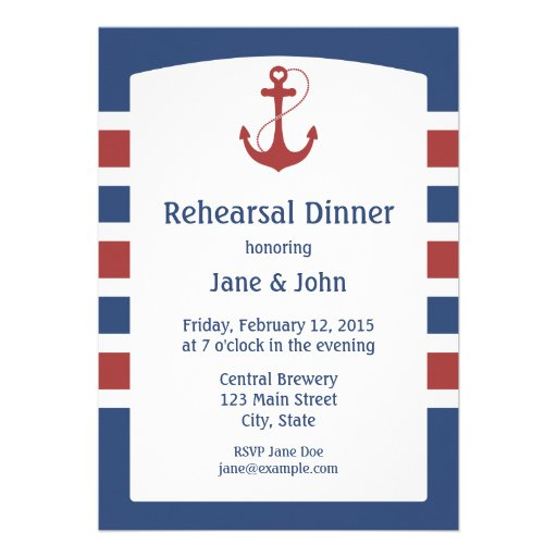 Nautical Rehearsal Dinner Invitations and get inspiration to create nice invitation ideas