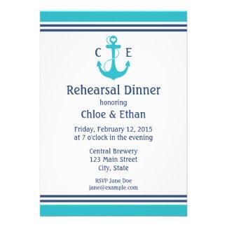 Nautical Rehearsal Dinner Invite
