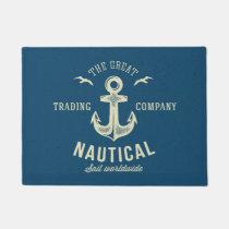 Nautical Retro Logo Doormat
