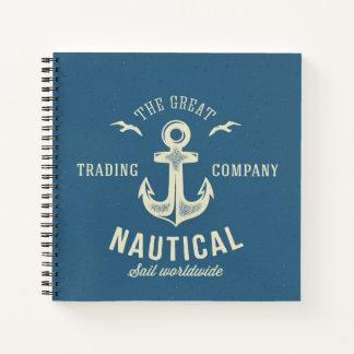 Nautical Retro Logo Notebook