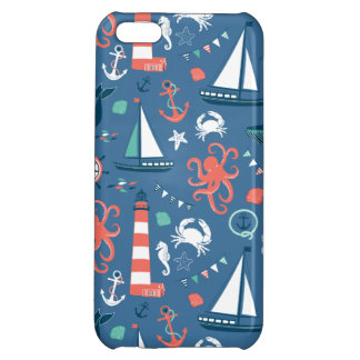 Nautical retro sailor girly pattern with anchors iPhone 5C covers