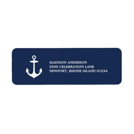 nautical return address label zazzle