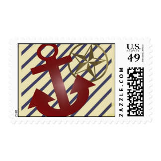 Nautical Rockabilly with Anchor & Star - Postage