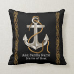 "NAUTICAL ROPE Anchor Custom Pillow Gift<br><div class=""desc"">This is a great Gift For A Boat Owner or Nautical Motif... The anchor design is has the rope and all... </div>"