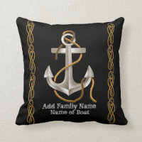 NAUTICAL ROPE Anchor Custom Pillow Gift