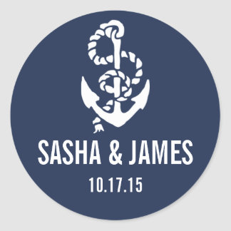 Nautical Rope & Anchor Personalized Stickers