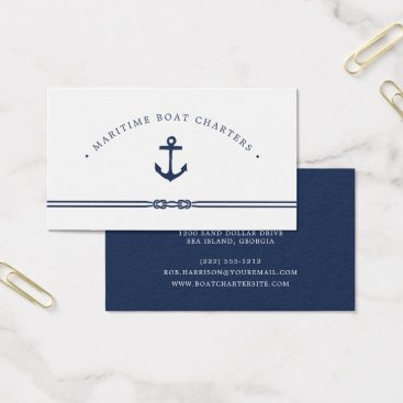 Wedding Themed Nautical Rope and Anchor Business Card