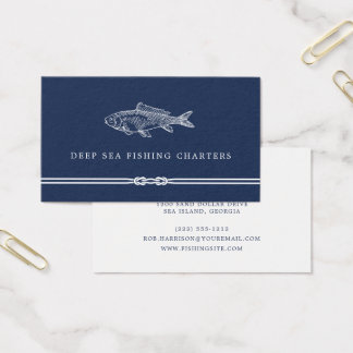 Nautical Rope | Fishing Charter Business Card