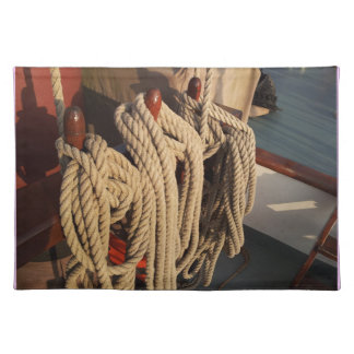 Nautical Rope on a Boat Cloth Place Mat