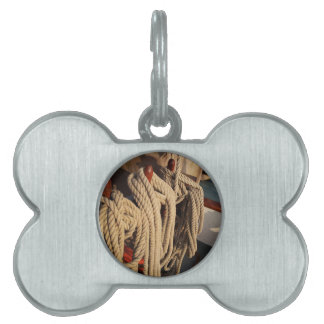 Nautical Rope on a Boat Pet ID Tag