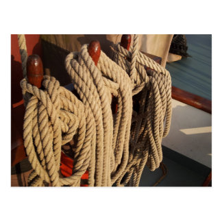 Nautical Rope on a Boat Postcard
