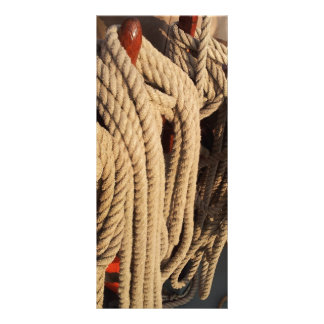 Nautical Rope on a Boat Rack Card Template