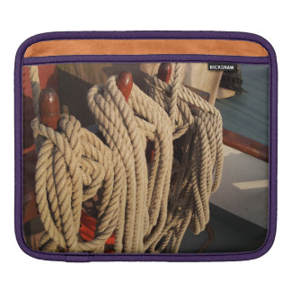 Nautical Rope on a Boat Sleeves For iPads