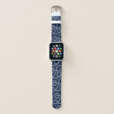 Beach Themed Nautical Rope Pattern Apple Watch Band