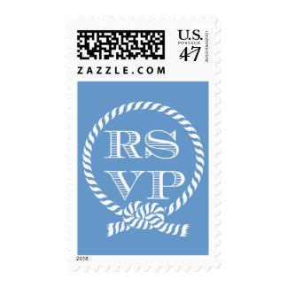 Nautical Rope Ring RSVP Wedding Stamps