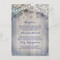 Nautical Rustic Wedding Information Guest Enclosure Card