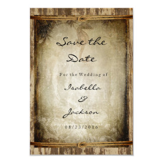 Nautical Rustic Wood Wedding Style Card