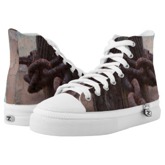 Nautical Rusty Chain High Tops
