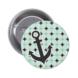 Nautical Sage Green Brown Buttons