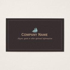 Nautical Sail Boat Business Card at Zazzle
