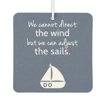 Nautical Sail boat Positive Quote Room Decor Car Air Freshener
