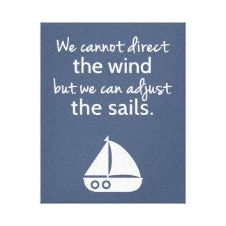 Nautical Sail boat Positive Quote Wall Decor