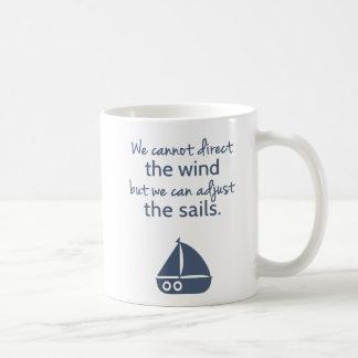 Nautical Sail boat Positivity Mindset Quote Classic White Coffee Mug