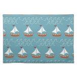 Nautical Sail Boat Print Cloth Place Mat