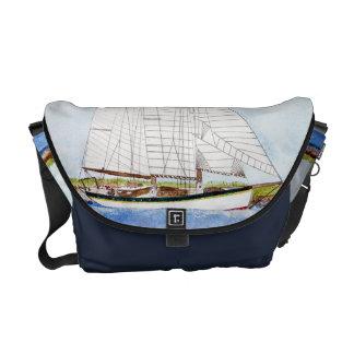 Nautical Sail Boat Sea Ocean Pirate Bag Tote Purse Courier Bags
