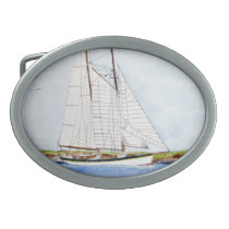 Nautical Sail Boat Sea Ocean Pirate Belt Buckle