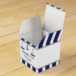 Nautical Sail Boats Baby Shower Favor Box