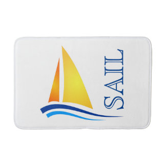 Nautical Sail Modern Bath Mat